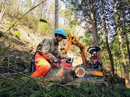 滋賀県米原市で担い手「自伐型林業みらいつくり隊」を募集中。