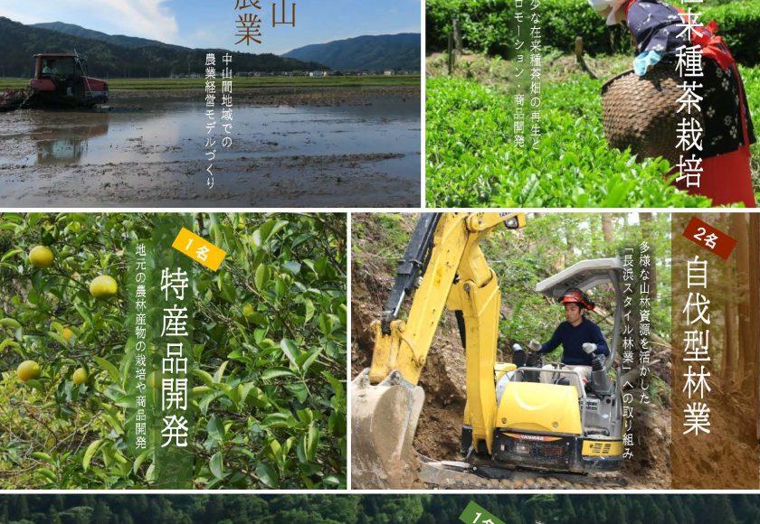 長浜市で自伐型林業実践者を2名募集中!