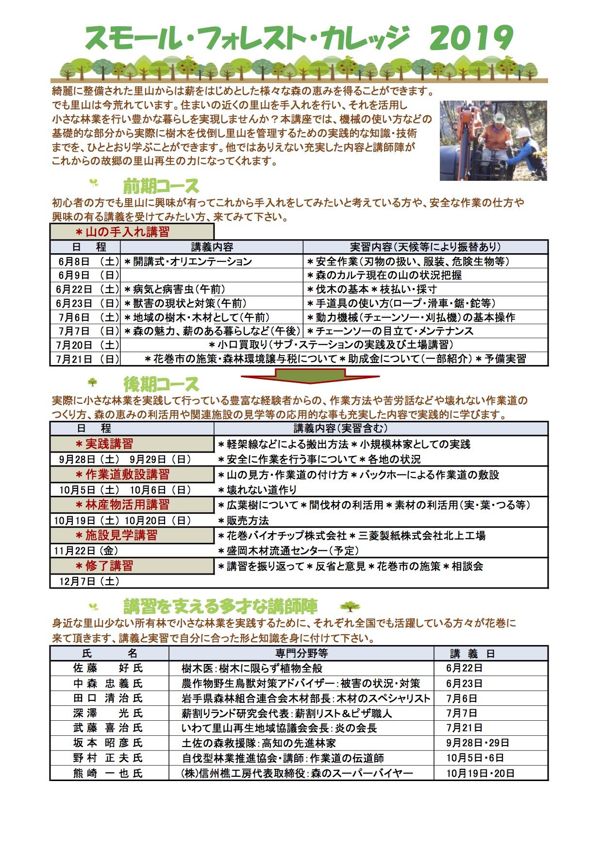 岩手県花巻市で自伐研修「スモール・フォレスト・カレッジ」開催